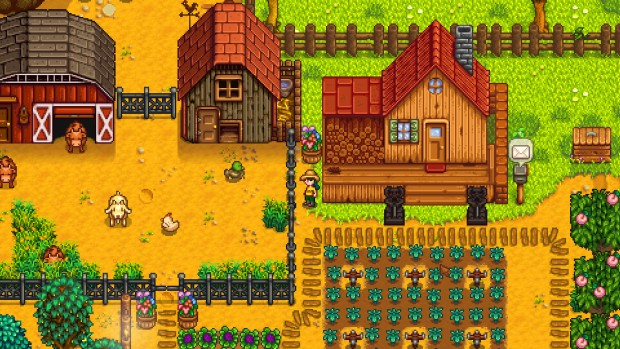 Stardew Valley screenshot showcasing a well-developed farm