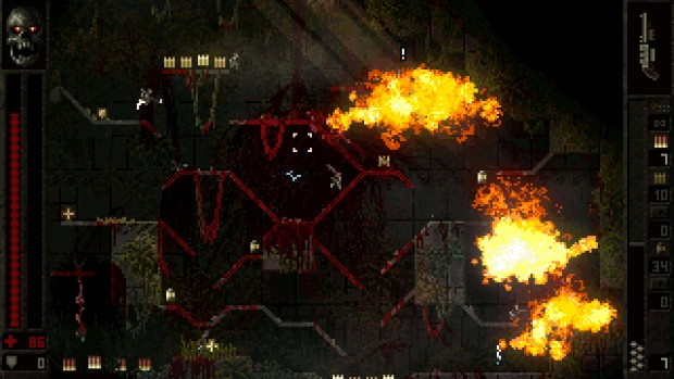 Butcher game screenshot showcasing some 2D action