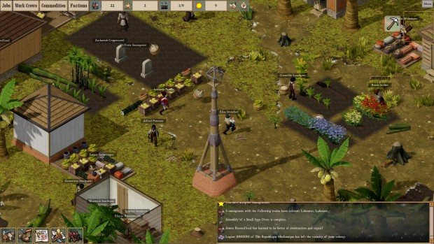 Gameplay screenshot from Clockwork Empires