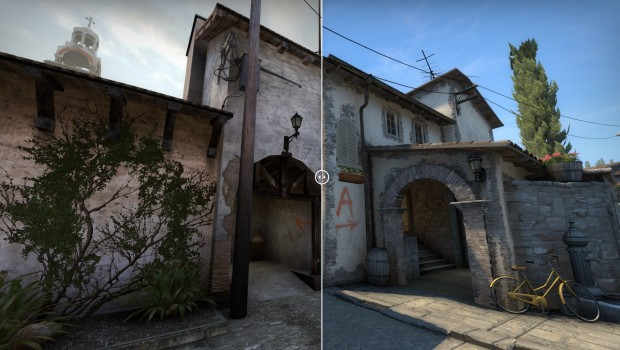 CS:GO Inferno comparison showing new T spawn