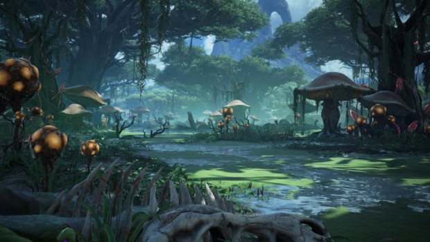 Dark and Light MMO swamp zone screenshot