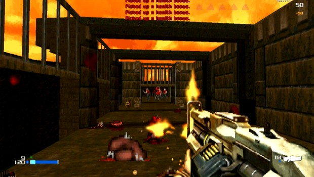 Doom 4 Doom mod showcasing Doom 4's assault rifle