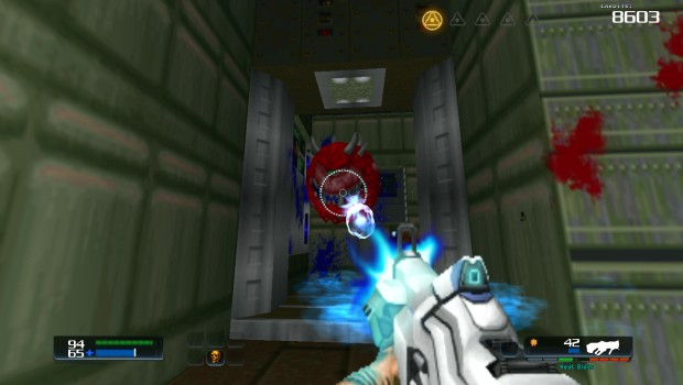 Doom 4 Doom mod screenshot showing the plasma rifle