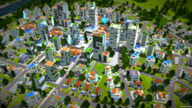 Industry Manager - Future Technologies screenshot showcasing a city in progress