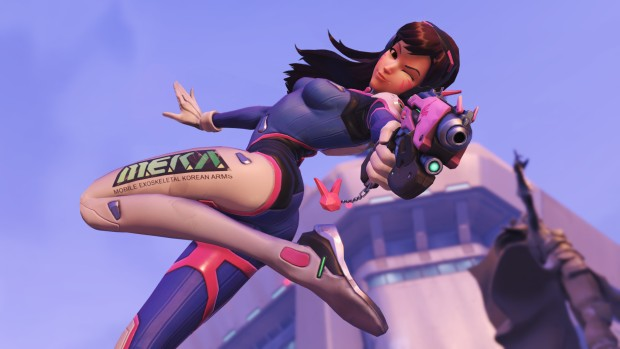 D.Va from Overwatch during her highlight intro