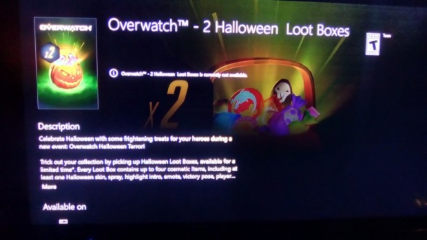 Overwatch leaked Halloween skin boxes