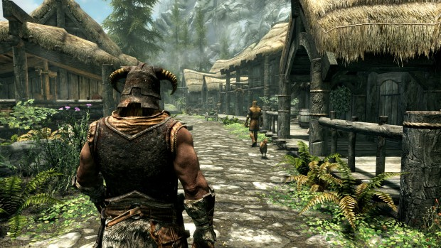 Skyrim Special Edition screenshot showcasing the first town