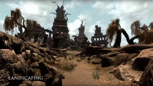 Skywind early alpha screenshot showcasing some landscaping
