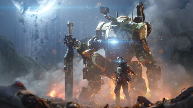 Titanfall 2's main character and his mech