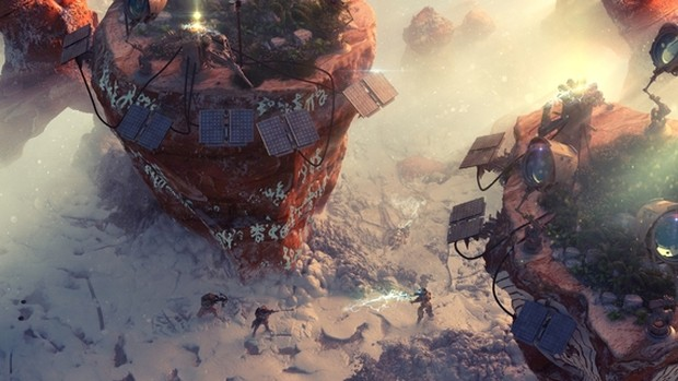 Wasteland 3 screenshot showcasing a snowy battlefield