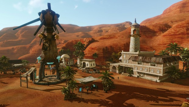ArcheAge expansion screenshot showcasing a new city from Revelation