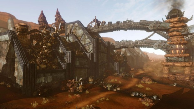 ArcheAge Revelation expansion screenshot showcasing a town made out of junk