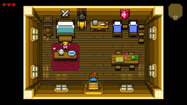 Blossom Tales screenshot showing the inside of a house