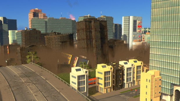 Cities: Skylines Natural Disasters DLC screenshot showing off the effects of an earthquake