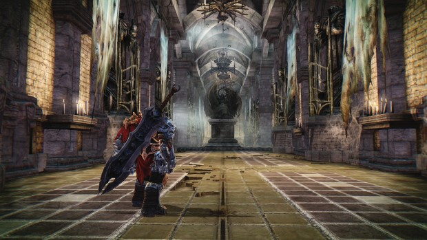 Darksiders Warmastered Edition in-game screenshot of a cathedral
