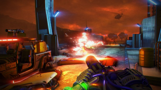 Far Cry 3: Blood Dragon machinegun screenshot