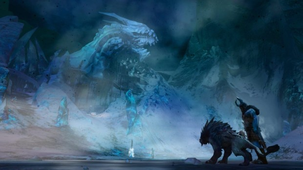 Guild Wars 2, Season 3 statue of Jormag screenshot