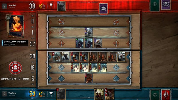 Swarming the board in Gwent with a Monsters deck