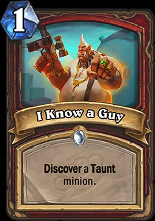 Hearthstone's Mean Streets of Gadgetzan card I know a guy