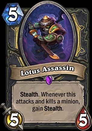 Hearthstone's Mean Streets of Gadgetzan card Lotus Assassin