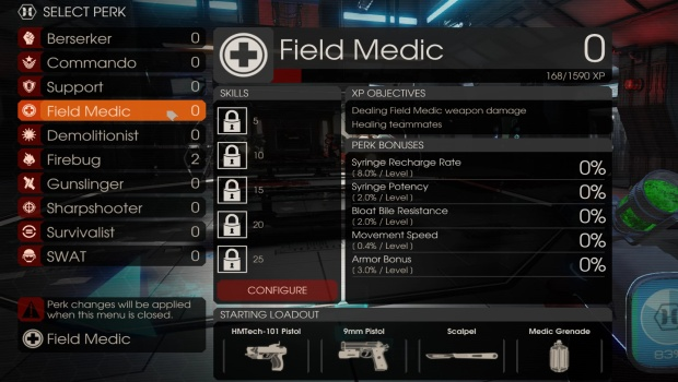 Killing Floor 2 medic talent choices
