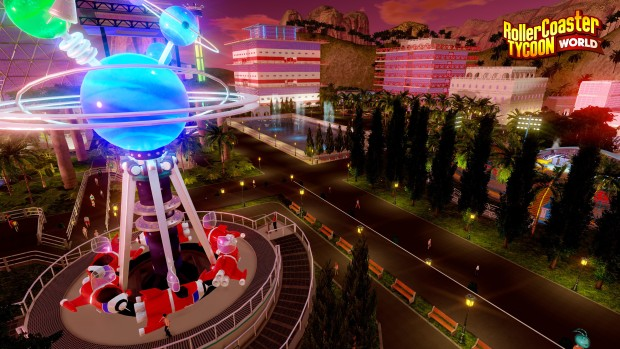 RollerCoaster Tycoon World screenshot showing the pendulum ride