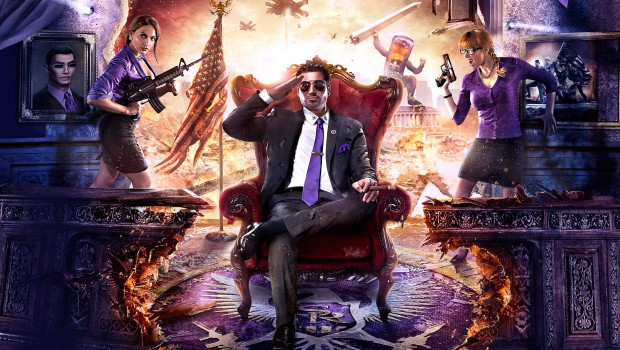 Saints Row 4 official artwork and logo