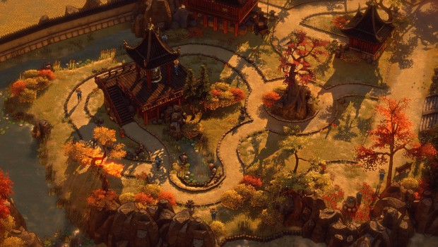 Shadow Tactics: Blades of the Shogun screenshot showcasing the lovely graphics