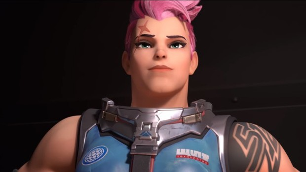 Zarya from Sombra's animated short Infiltration