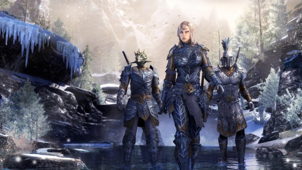 The Elder Scrolls Online characters in plate armor
