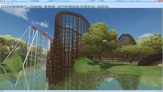 A giant rollercoaster made in Theme Park Studio
