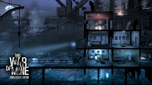 This War of Mine: Anniversary Edition screenshot showing off some desolate wastelands covered in snow