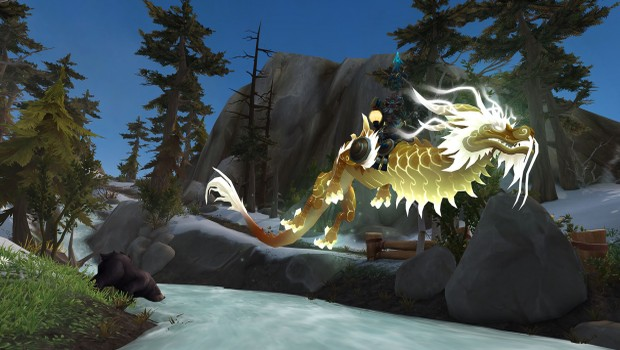 World of Warcraft: Legion flying in the Broken Isles