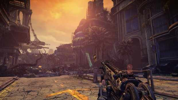Bulletstorm: Full Clip Edition screenshot showing off a rather desolate city