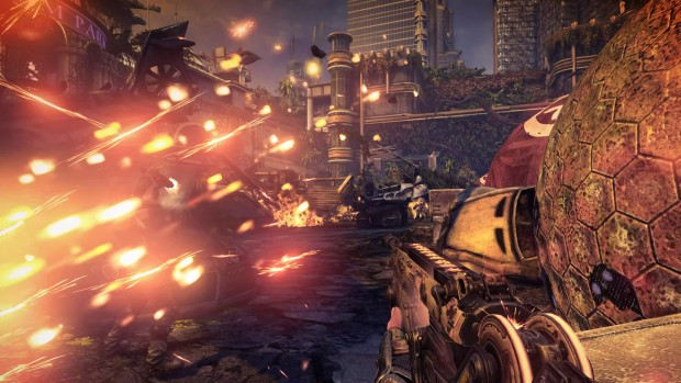 Bulletstorm: Full Clip Edition screenshot showing off explosion particles