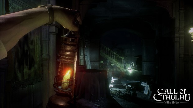Call of Cthulhu screenshot showcasing the light of a lantern
