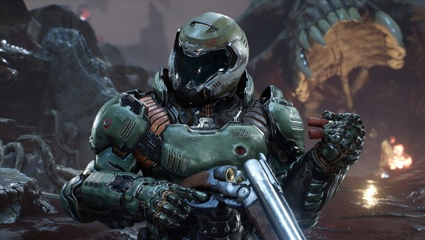 Doom screenshot of the original costume