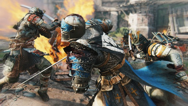 For Honor detailed screenshot featuring a colorful knight