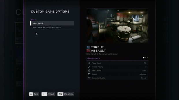 Screenshot showing the custom game browser from Halo 5: Forge on PC