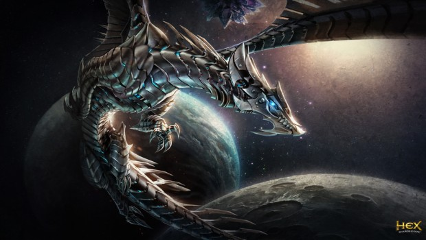 Hex: Shards of Fate artwork featuring the dragon Syyn