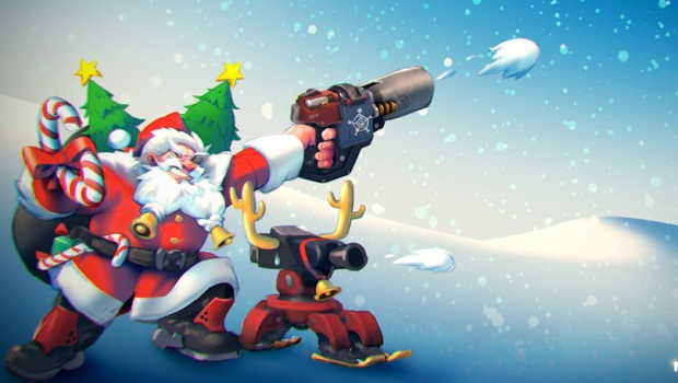 Torbjorn from Overwatch dressed up as Santa