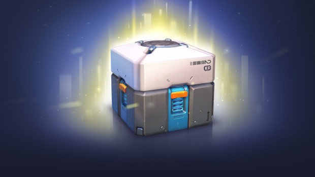 The official artwork for the Overwatch loot box