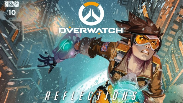Tracer from the festive Overwatch comic Reflections
