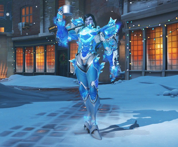 Overwatch Winter Wonderland skin for Pharah that makes her look pretty cool