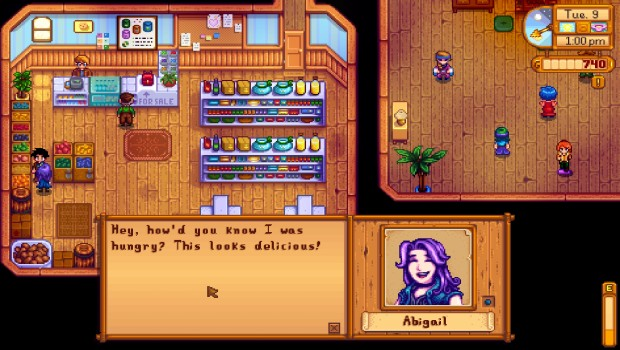 Abigal from Stardew Valley likes to eat rocks