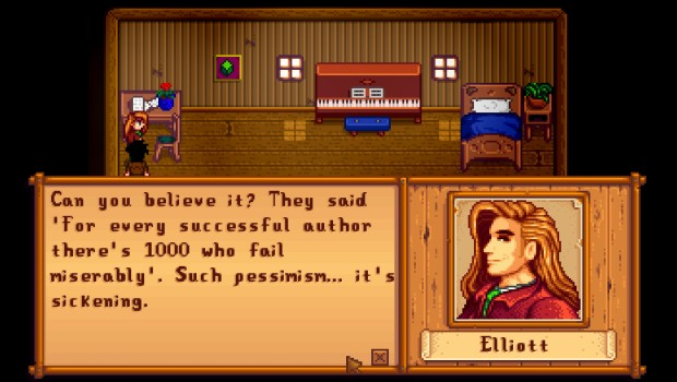Stardew Valley's Elliott has an interesting story
