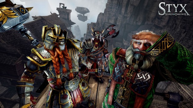 Styx: Shards of Darkness screenshot featuring some Dwarves