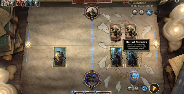 The new Hall of Mirrors condition from the Chaos Arena in The Elder Scrolls: Legends
