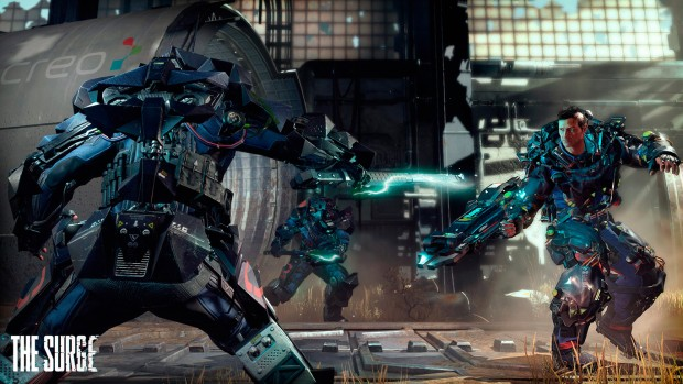 The Surge fighting against multiple enemies
