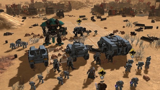 Warhammer 40k: Sanctus Reach screenshot showcasing a massive battle